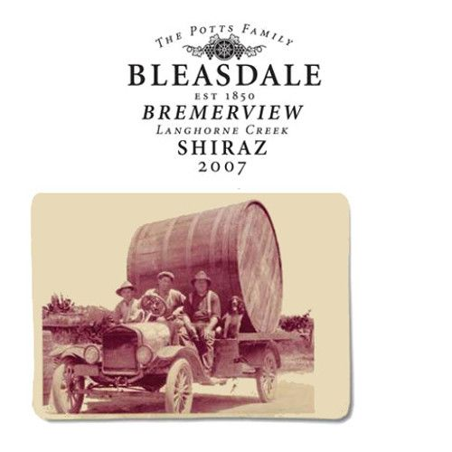 Bleasdale Bremerview Shiraz (375ML half-bottle) 2007 Front Label