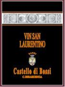 Castello di Bossi Vin San Laurentino (375ML half-bottle) 2000 Front Label