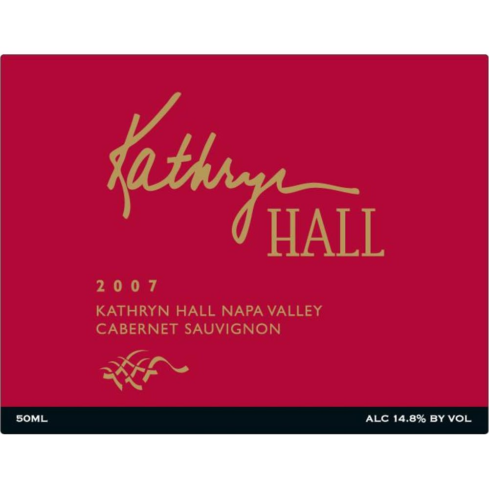 Hall Kathryn Hall Cabernet Sauvignon 2007 Front Label