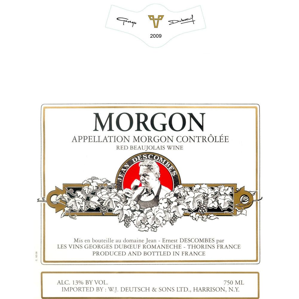 Duboeuf Morgon Jean-Ernest Descombes 2009 Front Label