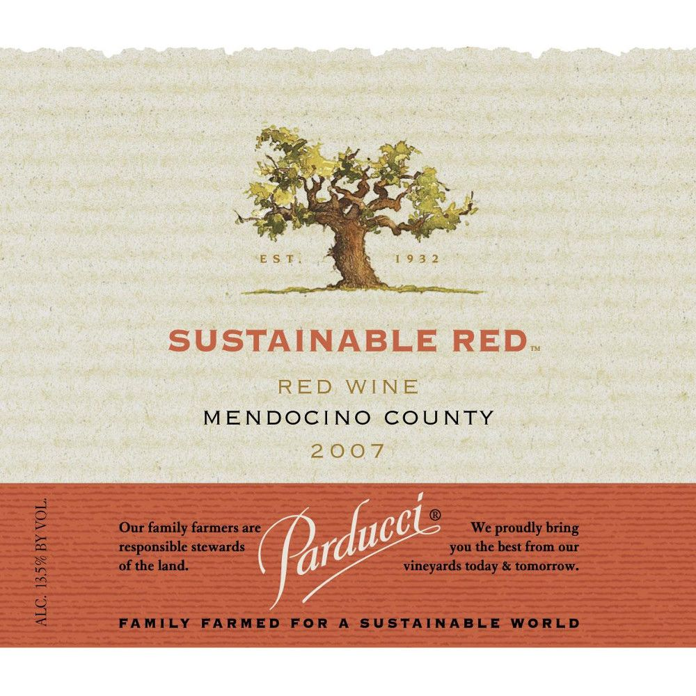 Parducci Sustainable Red Blend 2007 Front Label