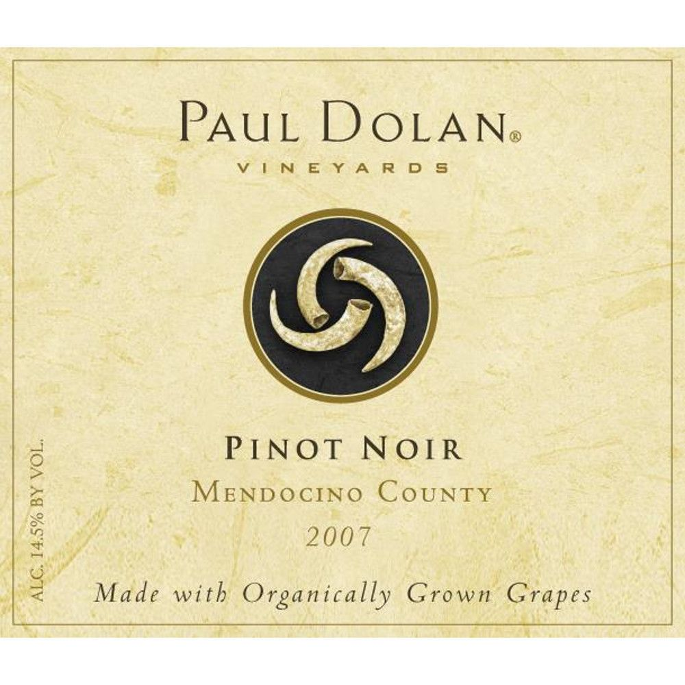 Paul Dolan Vineyards Organic Pinot Noir 2007 Front Label