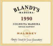 Blandy's Madeira Colheita Malmsey Single Harvest (500ML) 1990 Front Label
