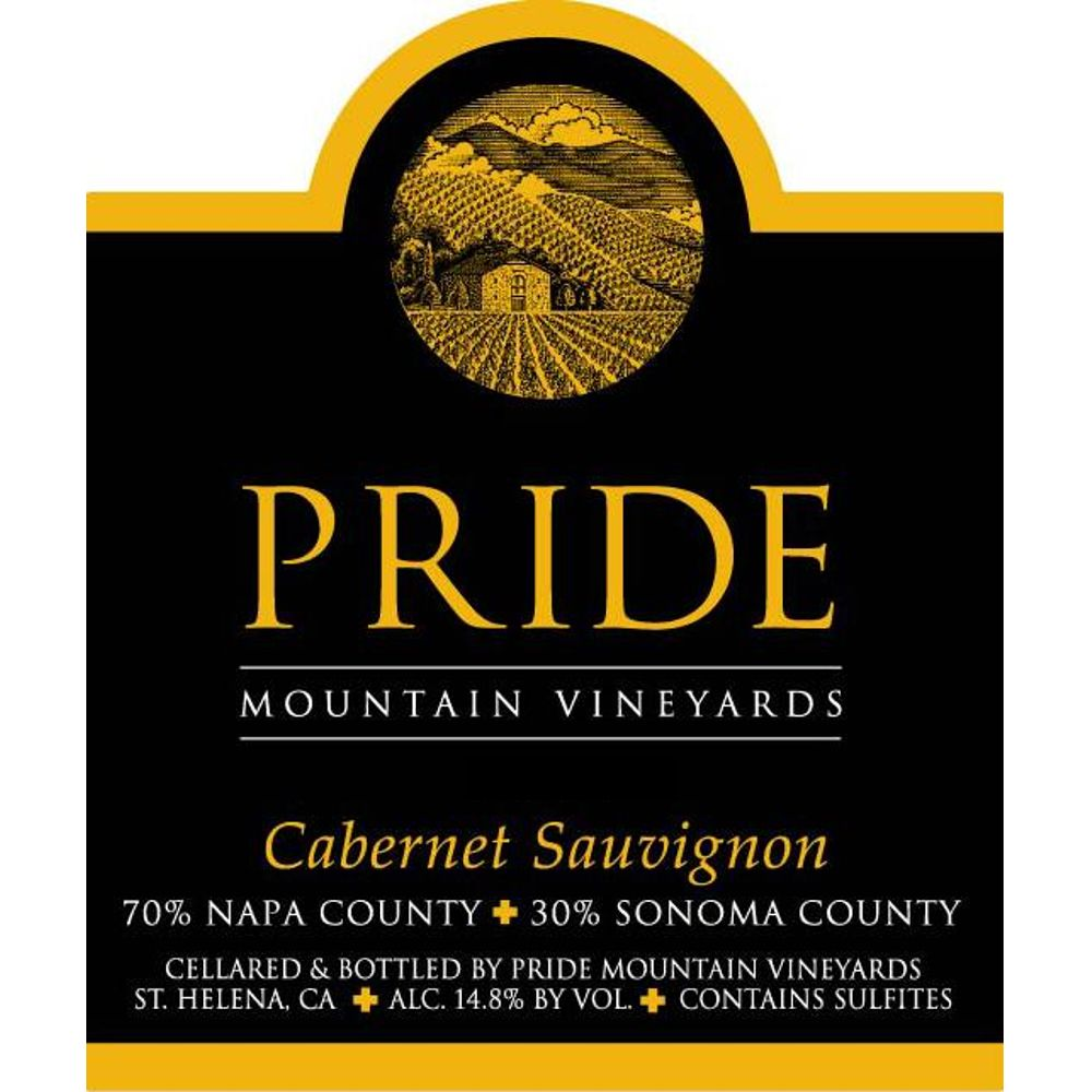 Pride Mountain Vineyards Cabernet Sauvignon 2007 Front Label