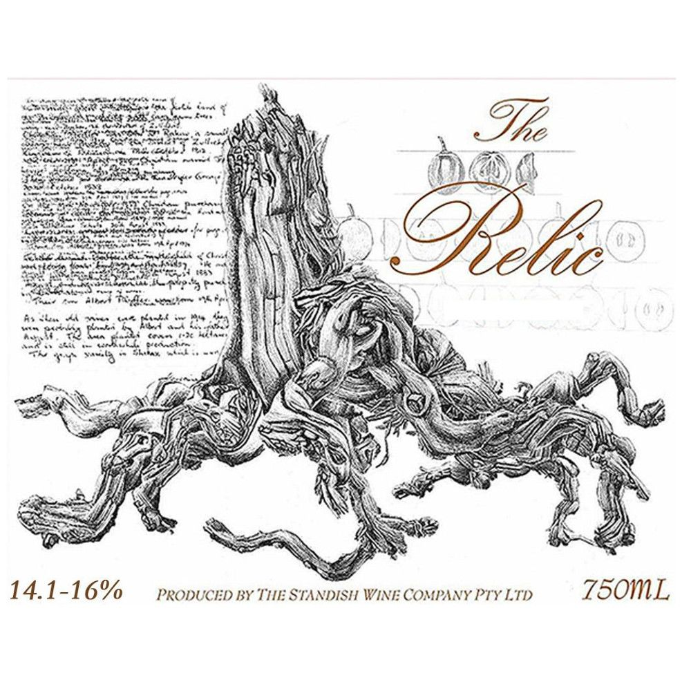 Standish The Relic Shiraz 2006 Front Label