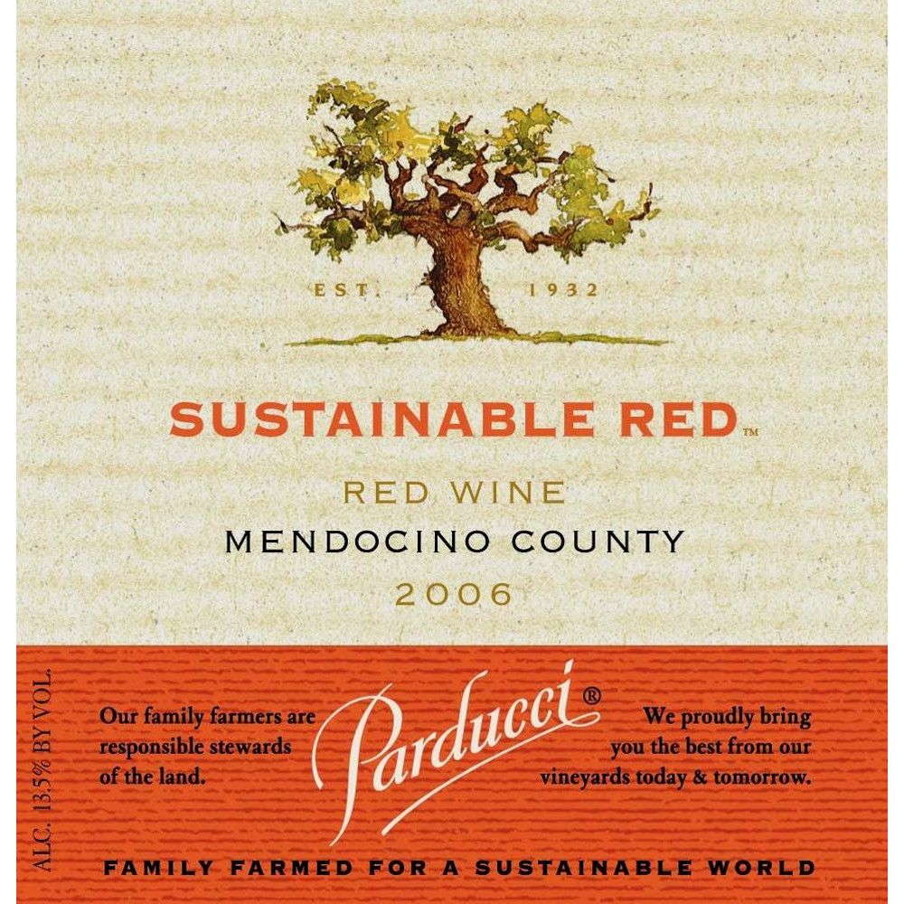 Parducci Sustainable Red Blend 2006 Front Label