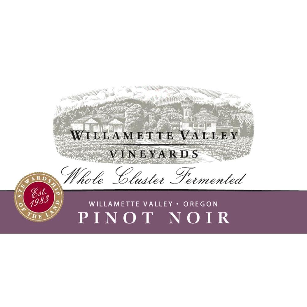Willamette Valley Vineyards Whole Cluster Pinot Noir 2009 Front Label