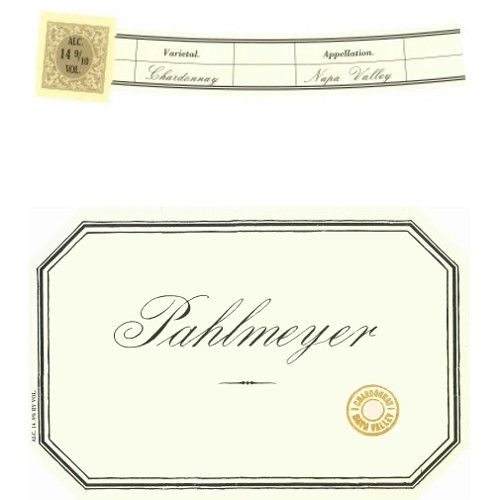 Pahlmeyer Napa Valley Chardonnay 2008 Front Label