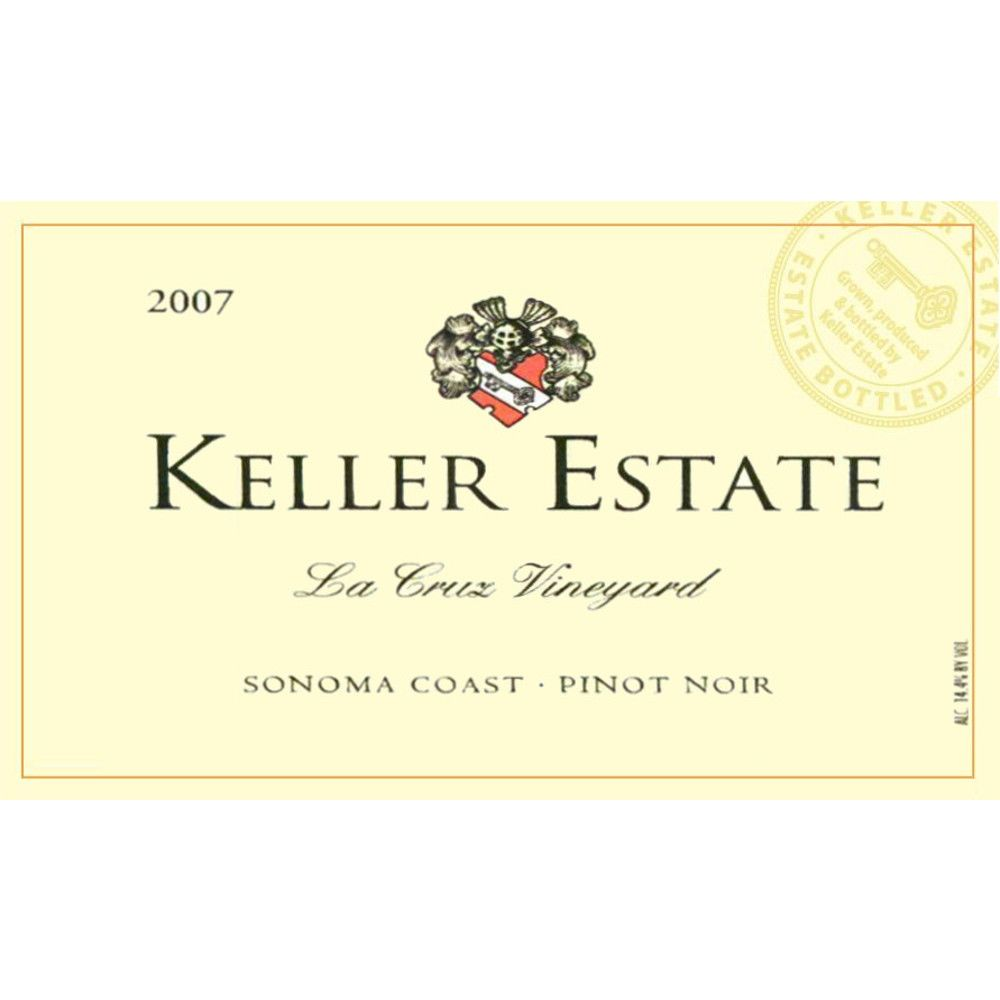Keller Estate La Cruz Vineyard Pinot Noir (375ML half-bottle) 2007 Front Label