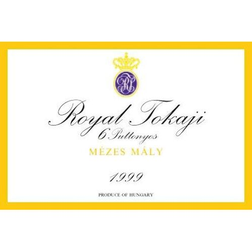 Royal Tokaji Tokaj Aszu 6 Puttonyos Mezes Maly (500ML) 1999 Front Label