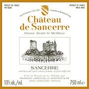 Chateau de Sancerre Blanc 2009 Front Label