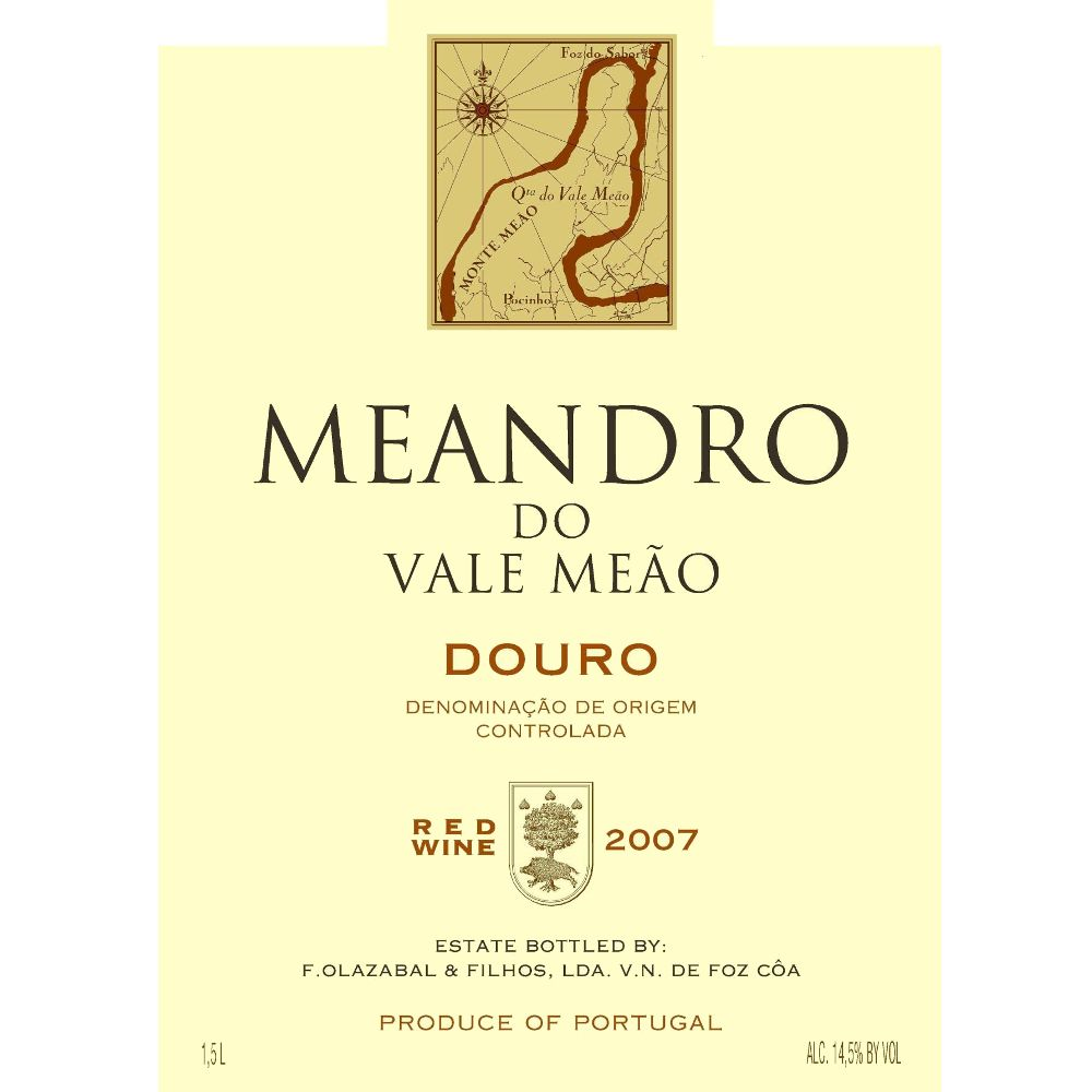 Quinta do Vale Meao Douro Meandro 2007 Front Label
