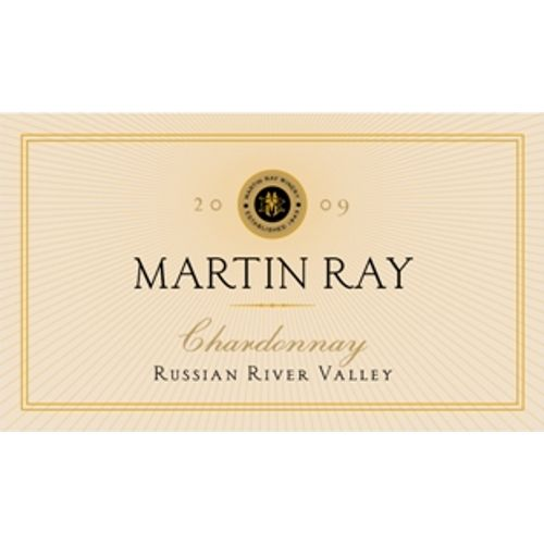 Martin Ray Russian River Valley Chardonnay 2009 Front Label