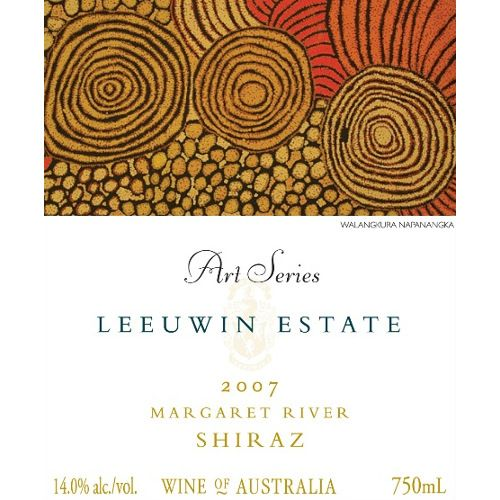Leeuwin Estate Art Series Shiraz 2007 Front Label
