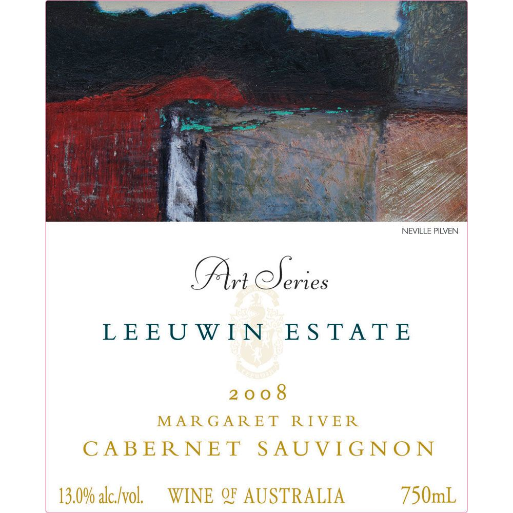 Leeuwin Estate Art Series Cabernet Sauvignon 2008 Front Label