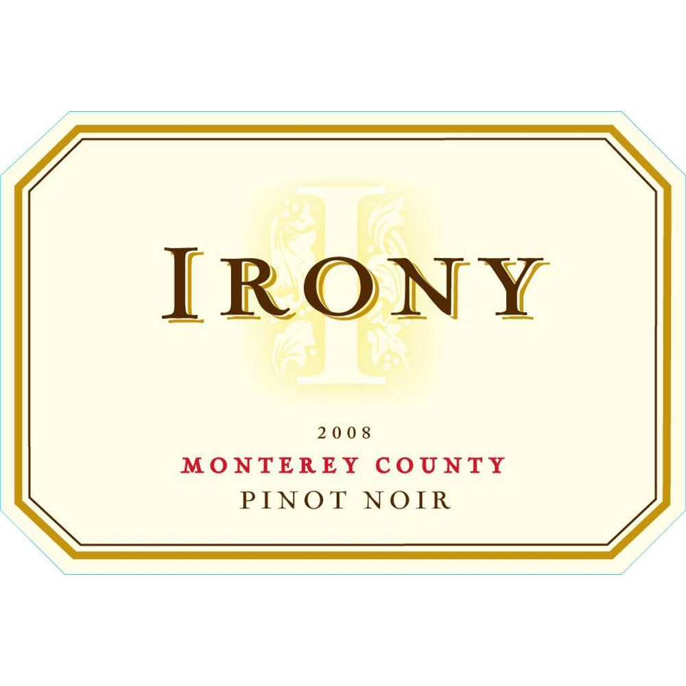 Irony Monterey Pinot Noir 2008 Front Label