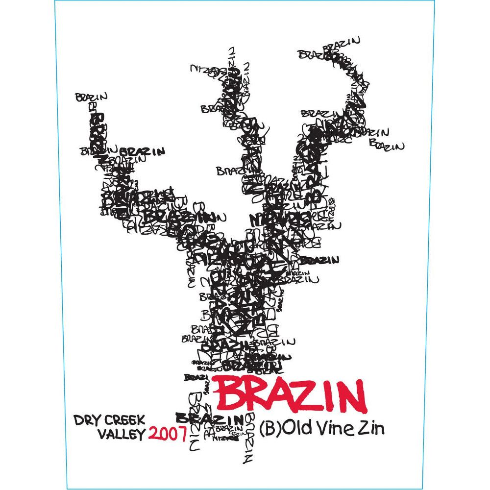 Brazin Dry Creek Valley Zinfandel 2007 Front Label