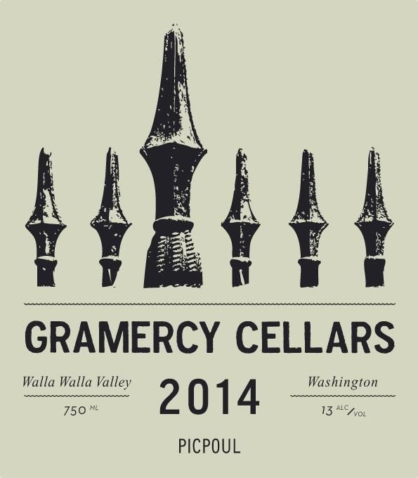 Gramercy Cellars Picpoul 2014 Front Label