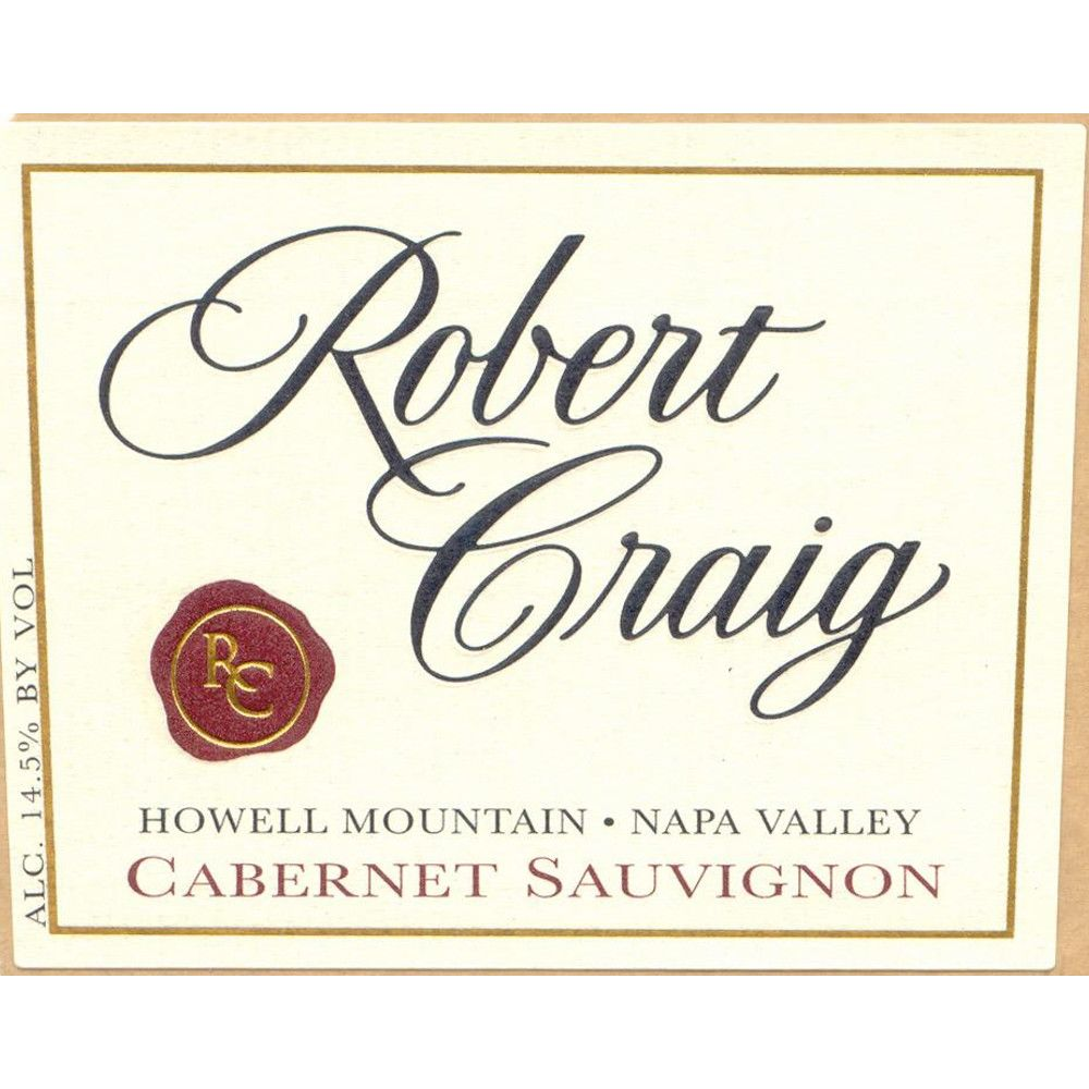 Robert Craig Cellars Howell Mountain Cabernet Sauvignon 2007 Front Label