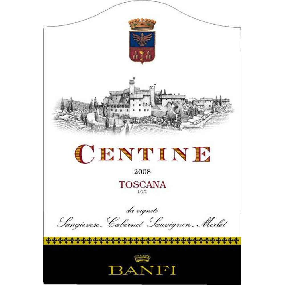 Banfi Centine Toscana 2008 Front Label