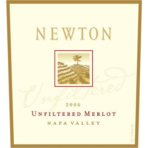 Newton Unfiltered Merlot 2006 Front Label
