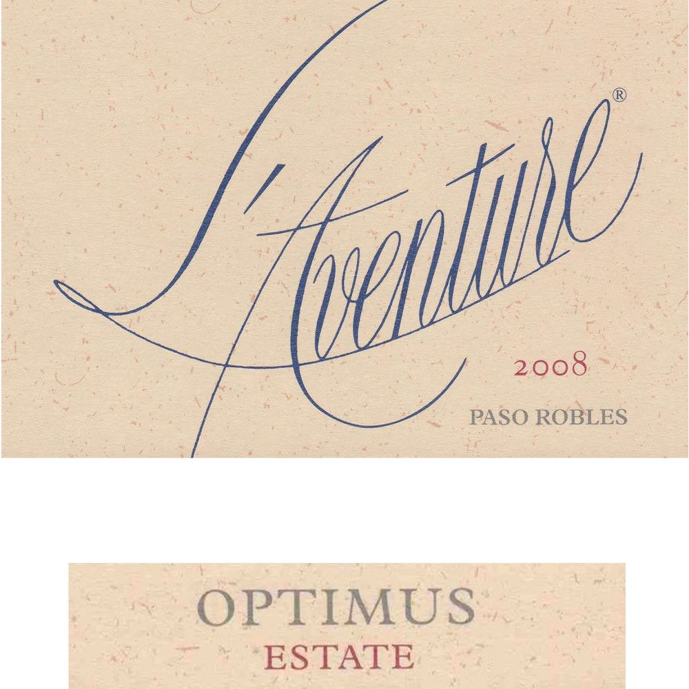 L'Aventure Optimus 2008 Front Label