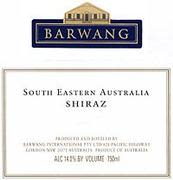 Barwang Vintner's Selection Shiraz 1997 Front Label