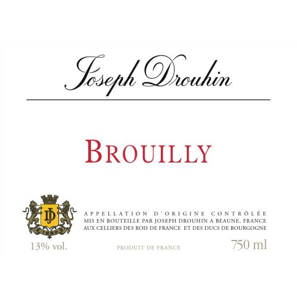 Joseph Drouhin Brouilly 2009 Front Label