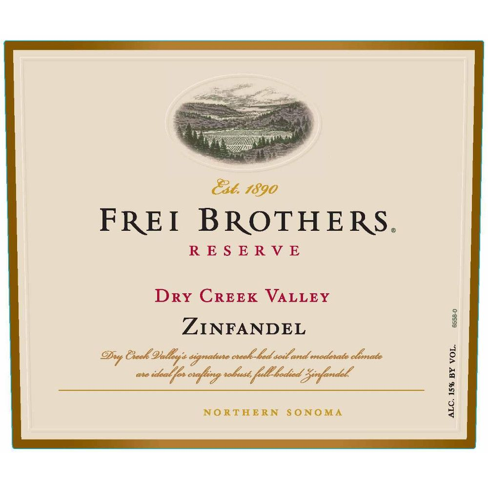 Frei Brothers Reserve Dry Creek Zinfandel 2009 Front Label