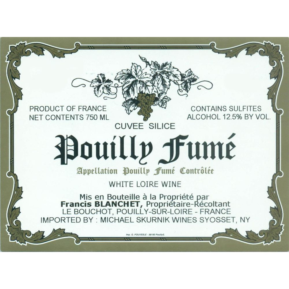 Domaine Francis Blanchet Pouilly Fume Cuvee Silice 2009 Front Label
