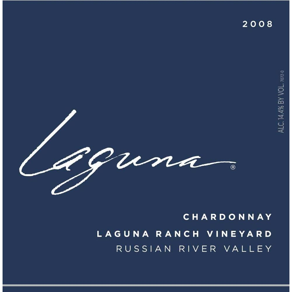 Laguna Winery Russian River Chardonnay 2008 Front Label