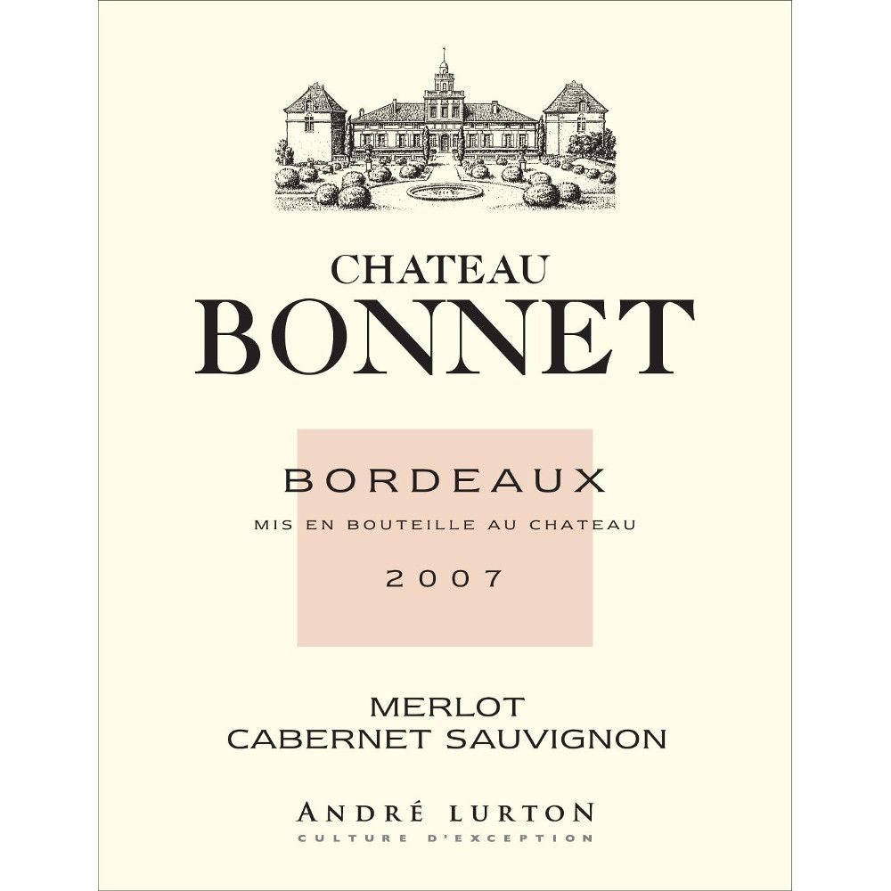 Chateau Bonnet Rouge 2007 Front Label