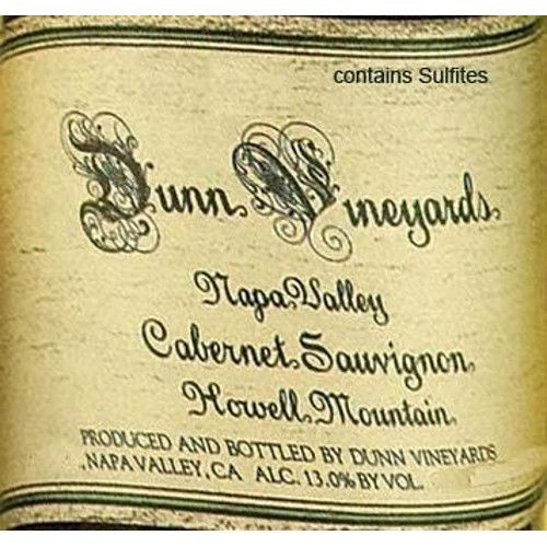 Dunn Howell Mountain Cabernet Sauvignon 2005 Front Label