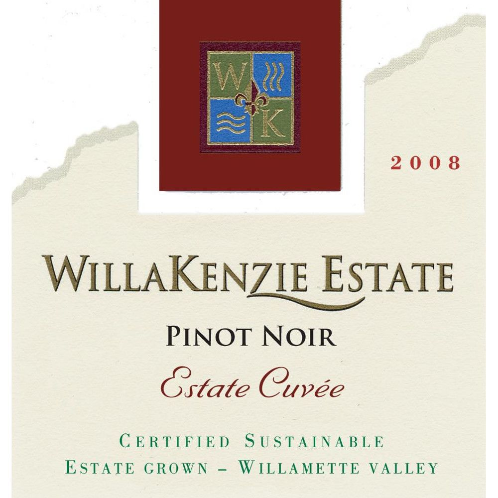 WillaKenzie Estate Estate Cuvee Pinot Noir (375ML half-bottle) 2008 Front Label