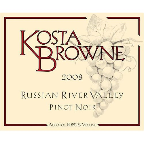 Kosta Browne Russian River Pinot Noir 2008 Front Label