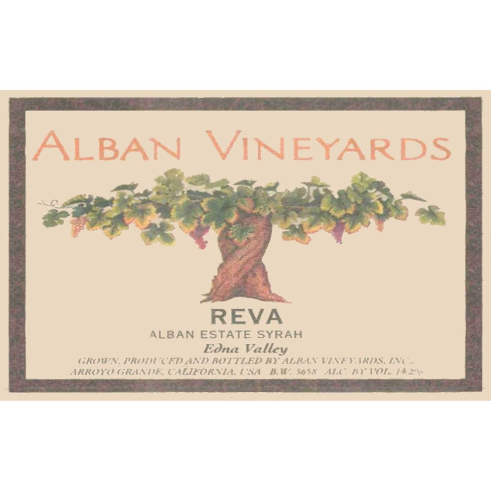 Alban Reva Estate Syrah 2006 Front Label