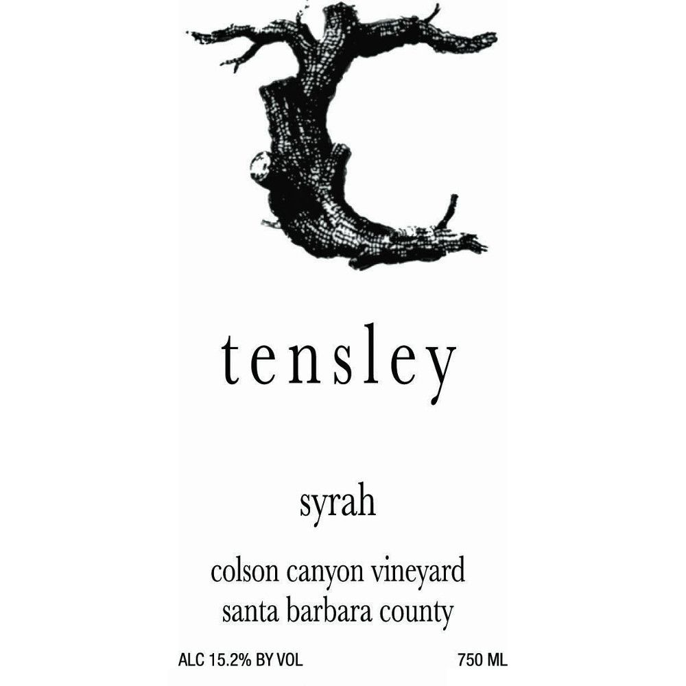 Tensley Colson Canyon Vineyard Syrah 2008 Front Label
