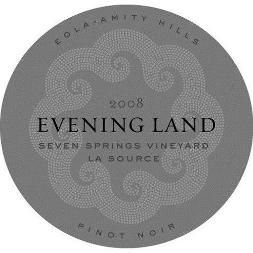 Evening Land Seven Springs Vineyard La Source Pinot Noir 2008 Front Label
