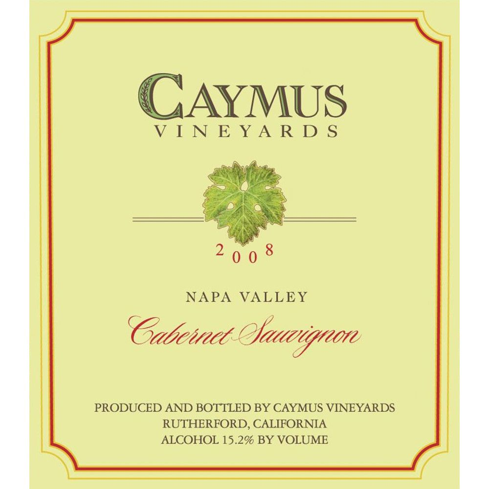 Caymus Napa Valley Cabernet Sauvignon (1.5 Liter Magnum) 2008 Front Label
