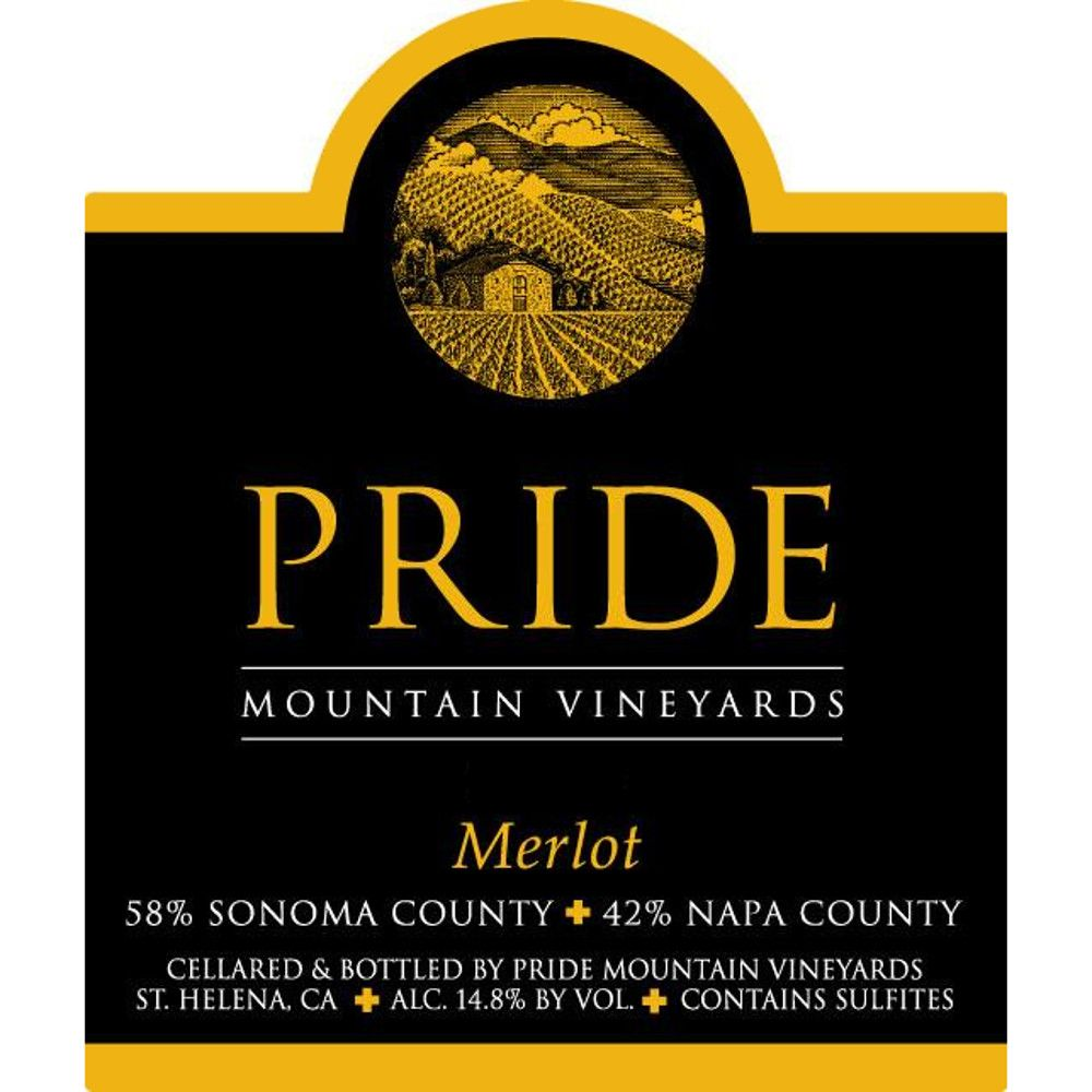 Pride Mountain Vineyards Merlot 2008 Front Label