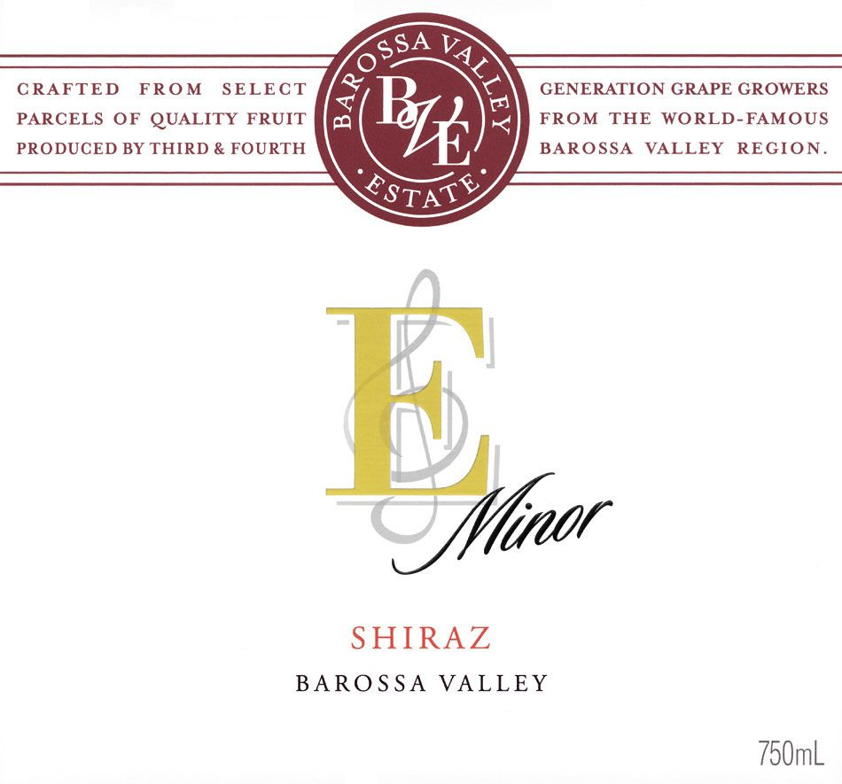Barossa Valley Estate E Minor Shiraz 2006 Front Label