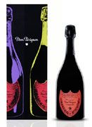 Dom Perignon Vintage Andy Warhol Red Label 2002 Front Label