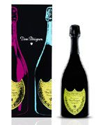 Dom Perignon Vintage Andy Warhol Yellow Label 2002 Front Label