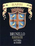 Fattoria dei Barbi Brunello di Montalcino (375ML half-bottle) 2004 Front Label