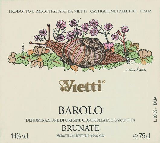 Vietti Barolo Brunate 2006 Front Label
