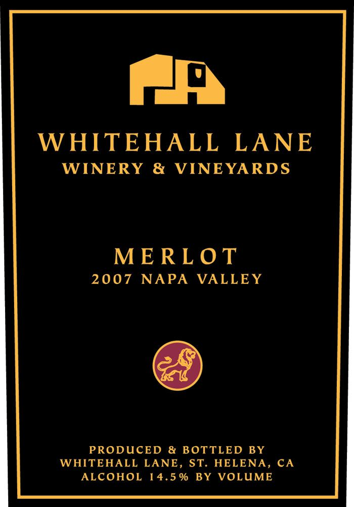 Whitehall Lane Merlot 2007 Front Label