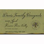 Davis Family Vineyards Guyzer Block Syrah 2007 Front Label