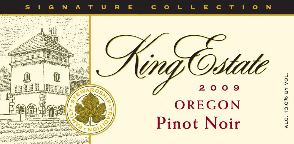 King Estate Willamette Valley Pinot Noir 2009 Front Label