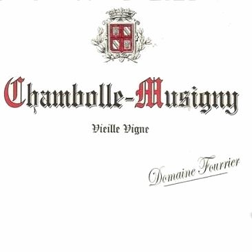 Domaine Fourrier Chambolle-Musigny Vieille Vigne (torn labels) 2013 Front Label