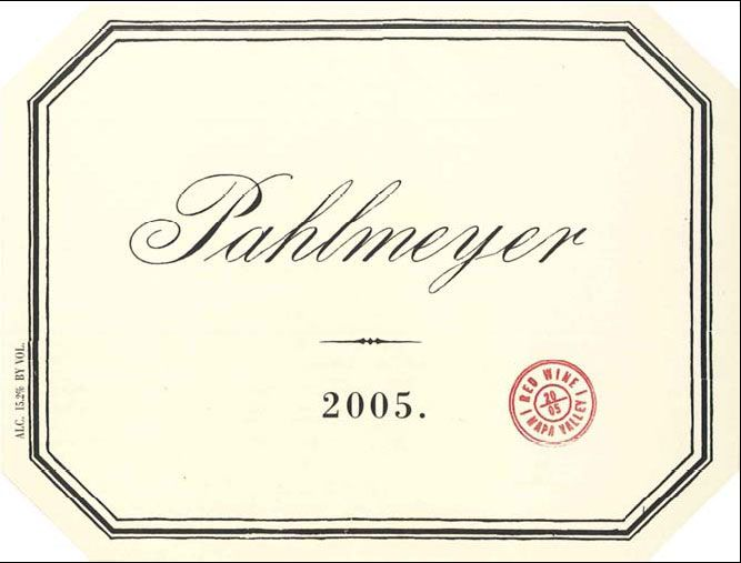 Pahlmeyer Napa Valley Proprietary Red (375ML half-bottle) 2005 Front Label